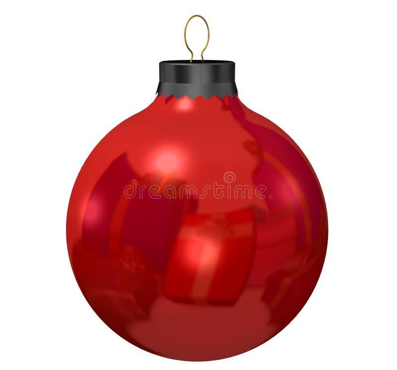 Rote Weihnachtsverzierung lizenzfreie abbildung