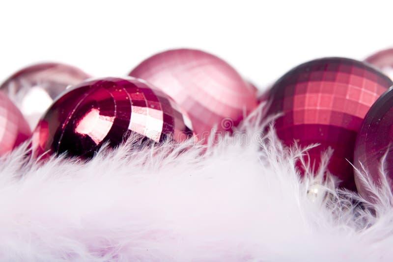 Rote Weihnachtsverzierung stockbild