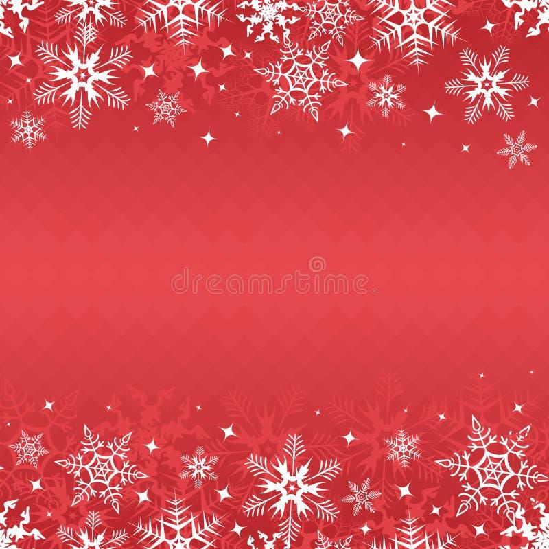 Rote Winterfahne lizenzfreie abbildung