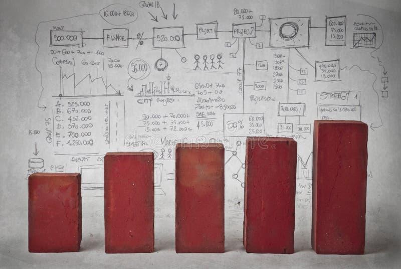 Rote Wirtschaftsgraphik lizenzfreie abbildung
