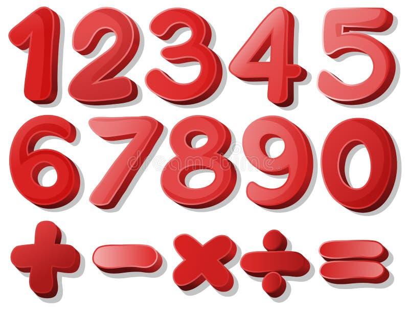 Rote Zahl lizenzfreie abbildung