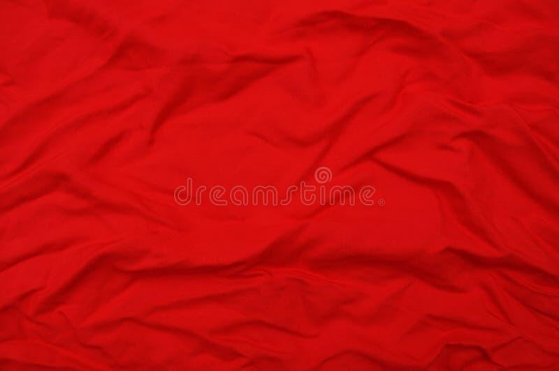 Rote zerquetschte Seide lizenzfreie stockbilder