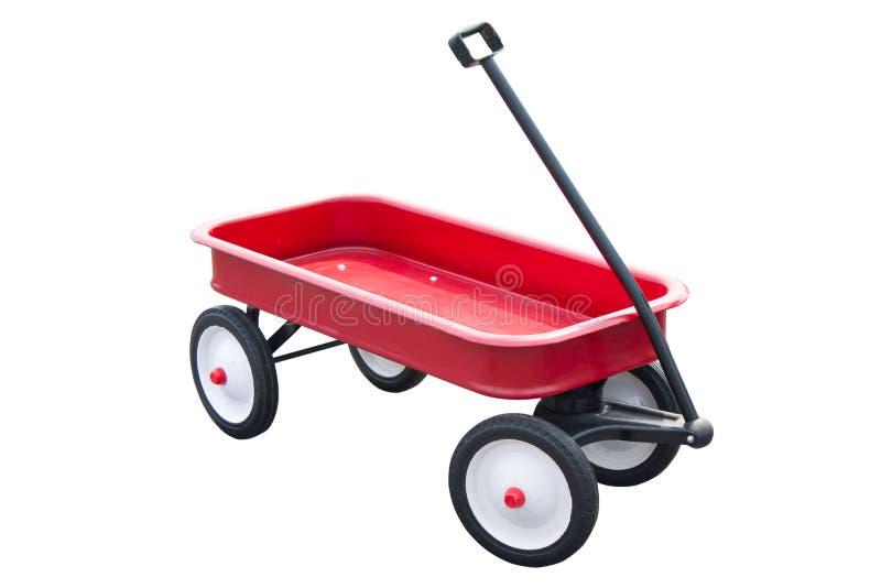 Rote Zug-Laufkatze. lizenzfreies stockbild