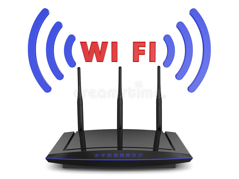Roteador de Wifi ilustração do vetor