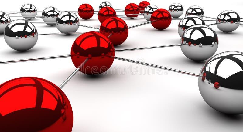 Roteamento de rede ilustração royalty free