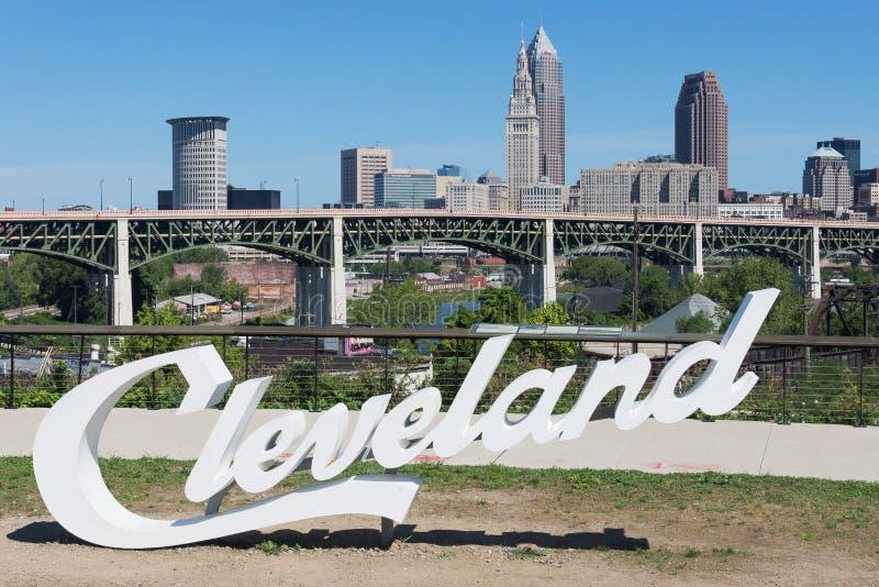 Roteiro Cleveland foto de stock royalty free