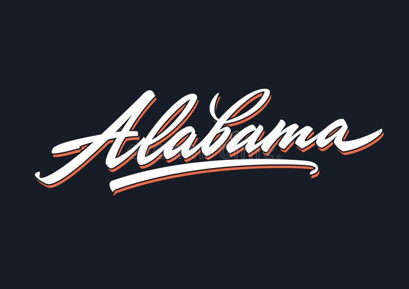 Roteiro da rotulação da escova de Alabama ilustração royalty free