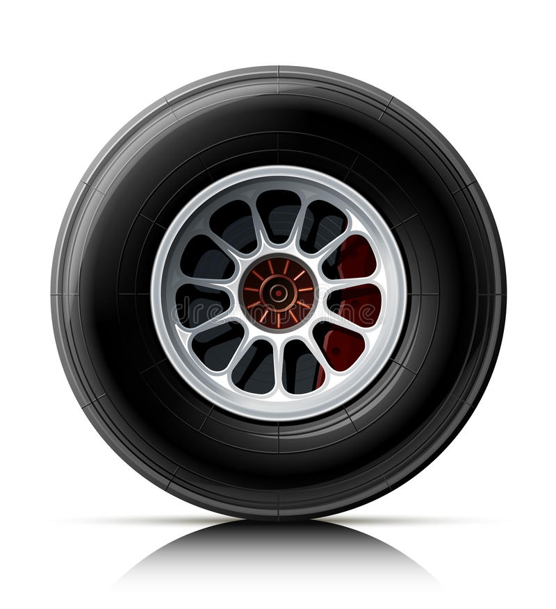 Rotella dell'automobile sportiva illustrazione vettoriale