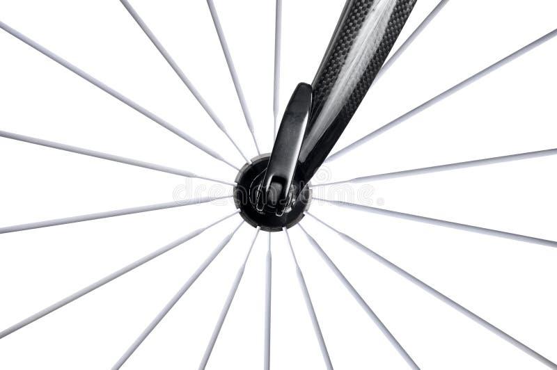 Rotella della bici della strada con i raggi immagini stock libere da diritti