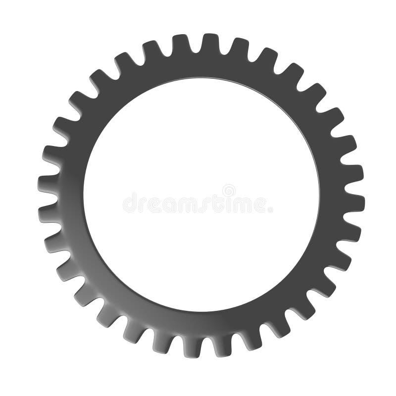 Rotella di attrezzo resa dell'orologio illustrazione di stock