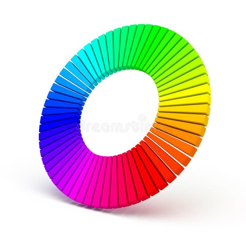 rotella di colore 3d isolata su priorità bassa bianca royalty illustrazione gratis