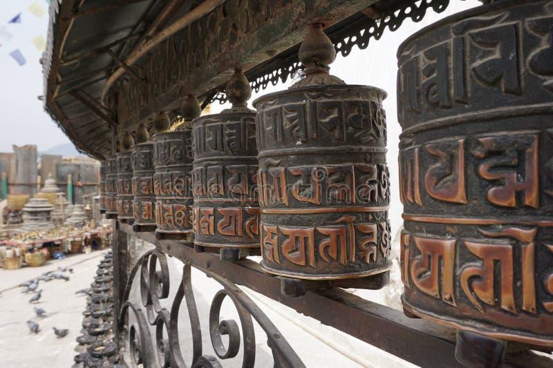 Rotella di preghiera buddista fotografie stock libere da diritti