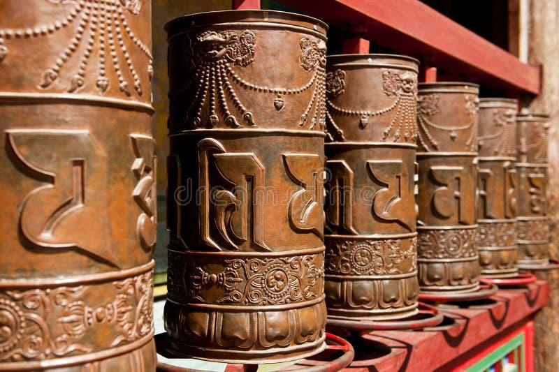 Rotella di preghiera tibetana fotografia stock libera da diritti