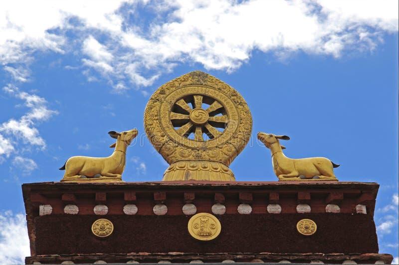 Rotella dorata di Dharma fotografia stock libera da diritti