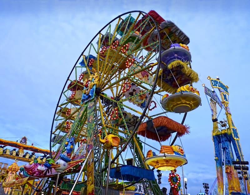 Rotella variopinta a Luna Park immagini stock