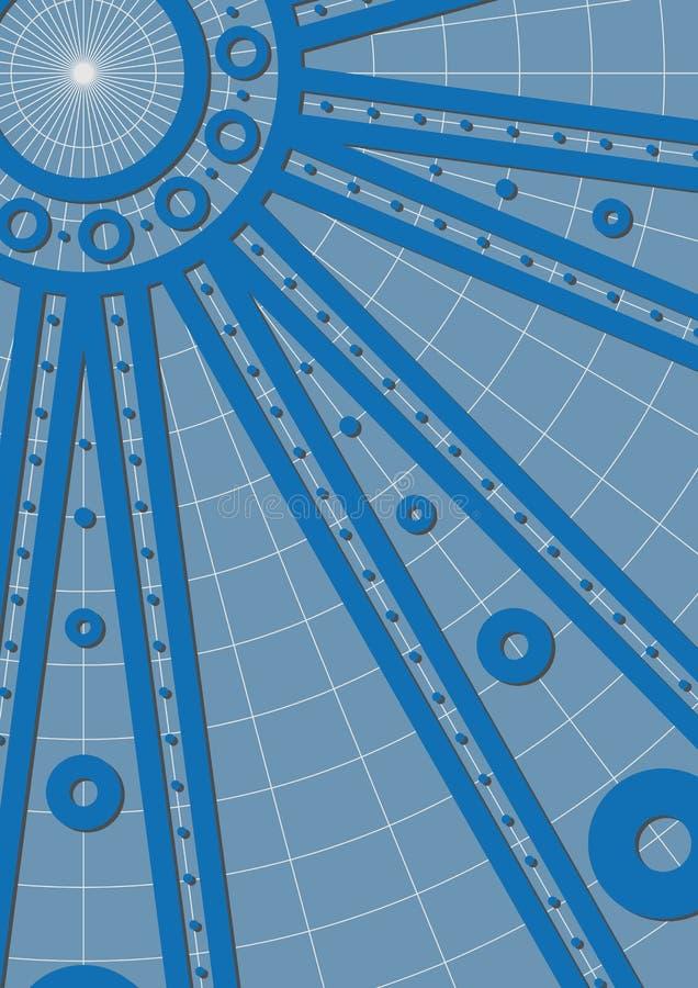 Rotelle blu illustrazione di stock