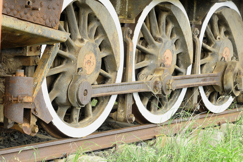 Rotelle del treno immagine stock libera da diritti