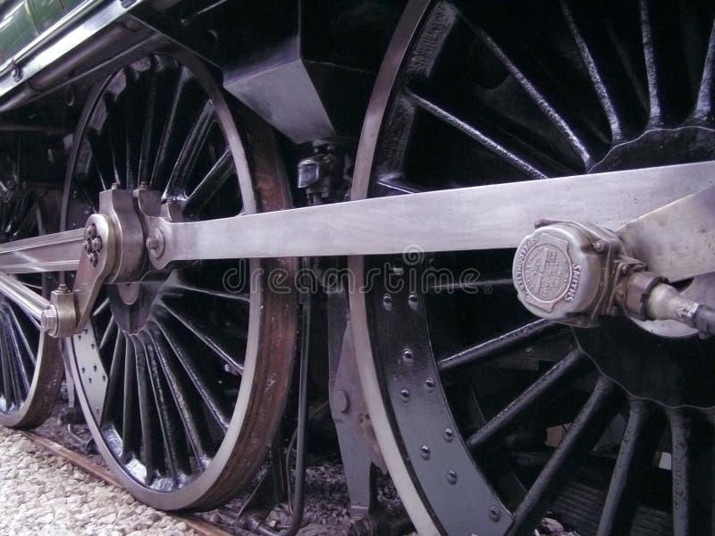 Rotelle del treno fotografie stock