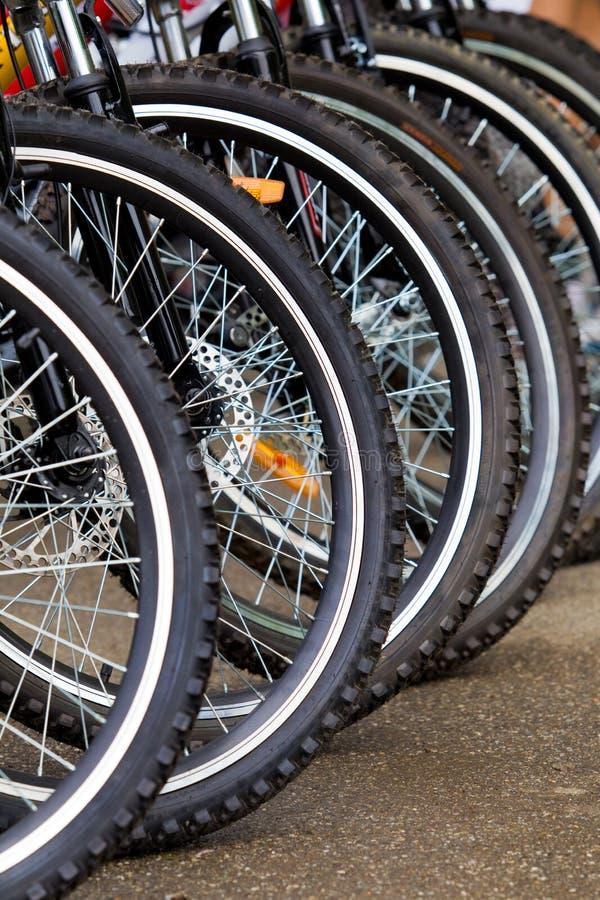 Rotelle della bici fotografia stock libera da diritti