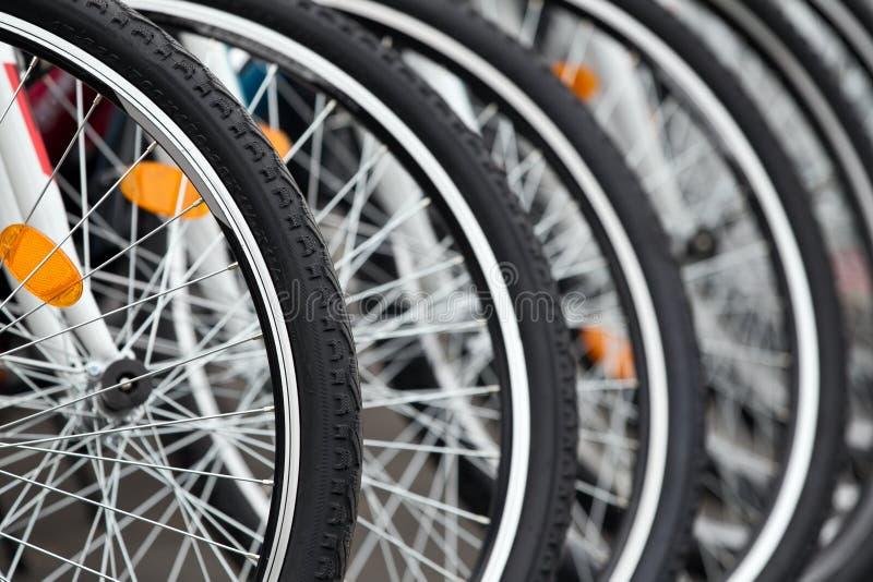 Rotelle della bici immagini stock libere da diritti
