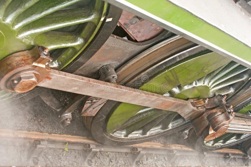 Rotelle Della Locomotiva Di Vapore; Particolari. Fotografia Stock