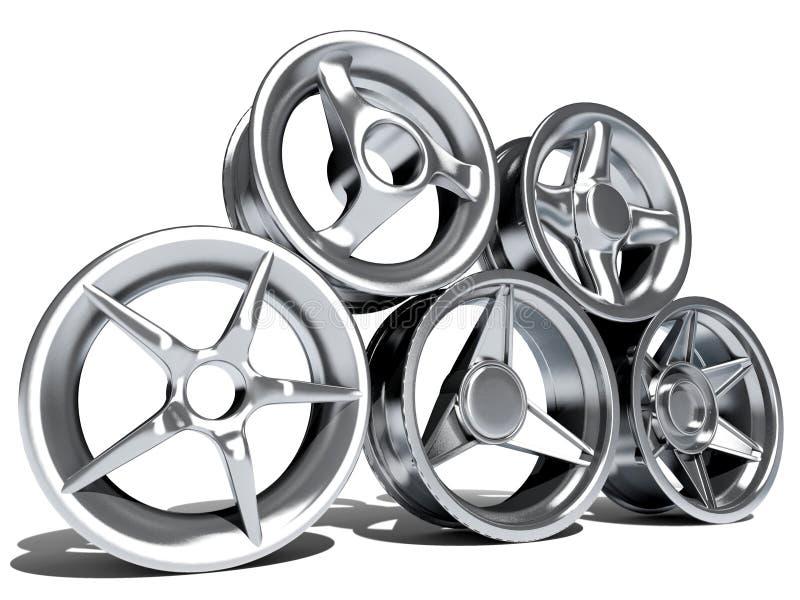 Rotelle di automobile illustrazione di stock