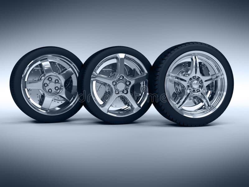Rotelle di automobile royalty illustrazione gratis