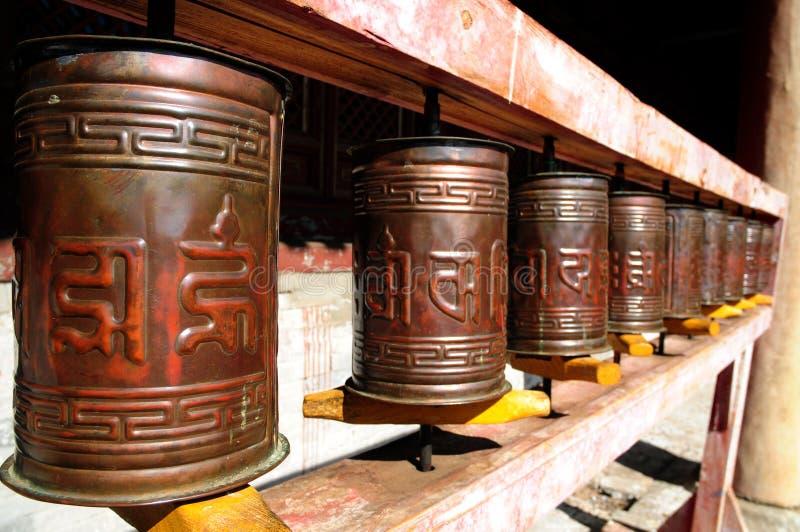 Rotelle di preghiera buddisti Mongolia immagini stock libere da diritti