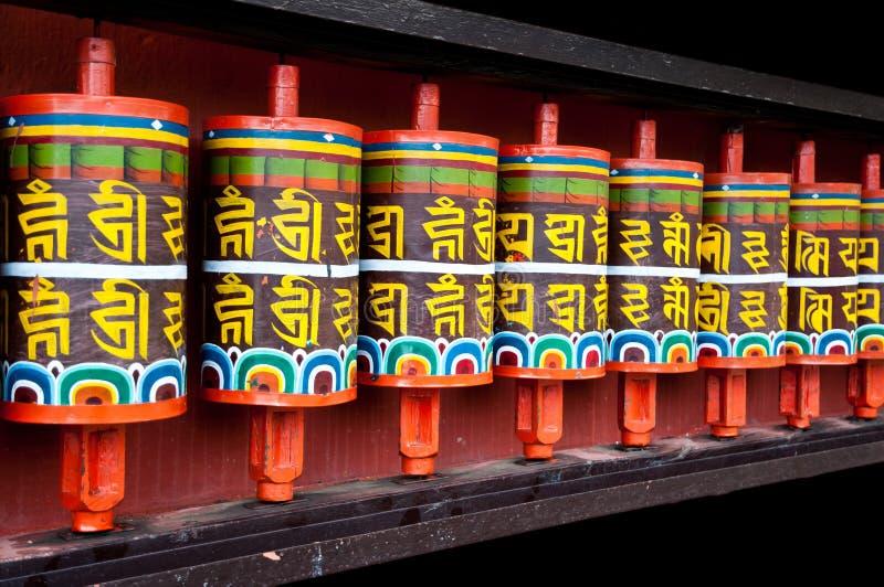 Rotelle di preghiera tibetane immagini stock libere da diritti