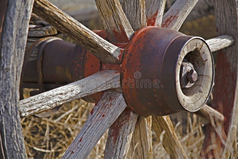 Rotelle di vagone dell'ovest fotografia stock libera da diritti