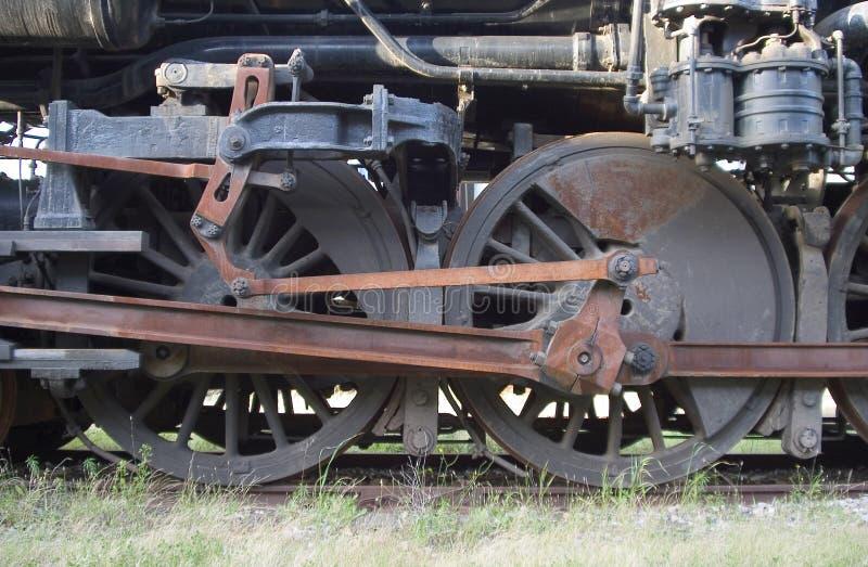 Rotelle locomotive fotografie stock