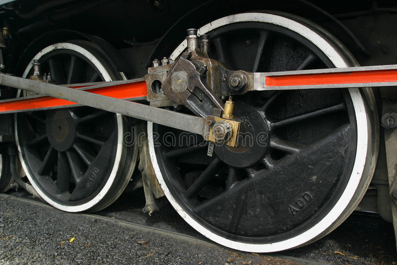 Rotelle locomotive immagini stock