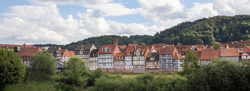 Rotenburg ένα fulda Hesse Γερμανία der στοκ φωτογραφίες