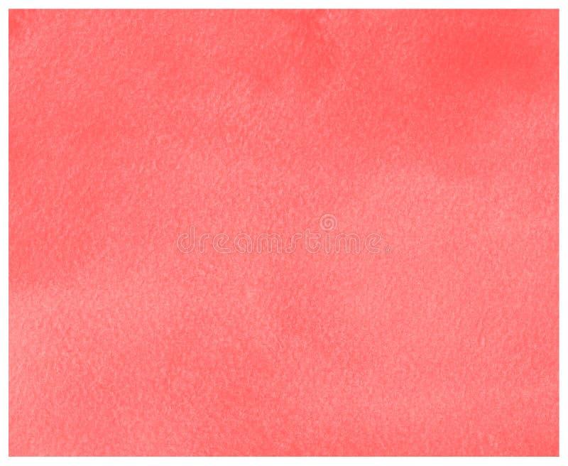 Roter abstrakter Aquarellhintergrund mit Papierbeschaffenheit vektor abbildung