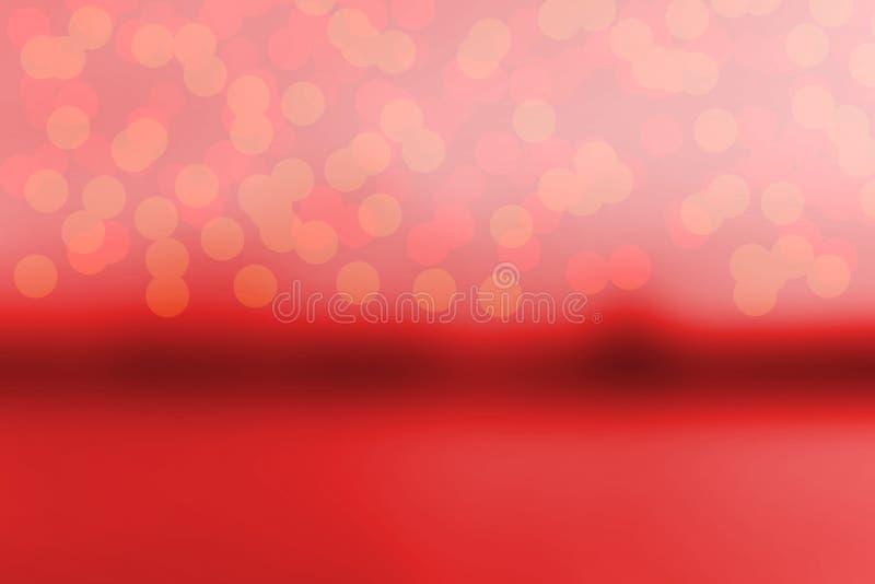 Roter abstrakter bokeh Weihnachtshintergrund haben Raum Illustration stockfoto