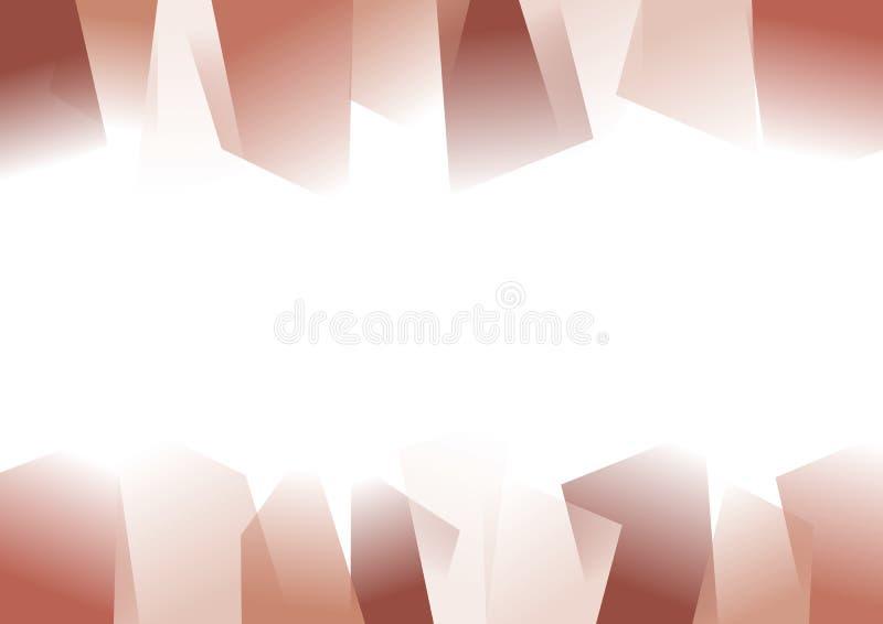 Roter abstrakter gezackter Hintergrund vektor abbildung