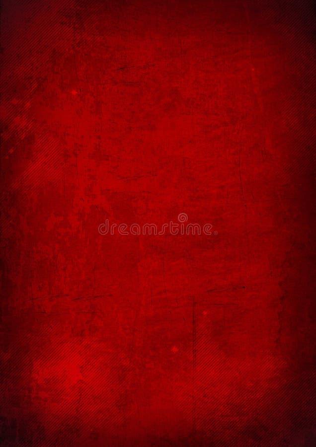 Roter abstrakter grunge Hintergrund lizenzfreie abbildung
