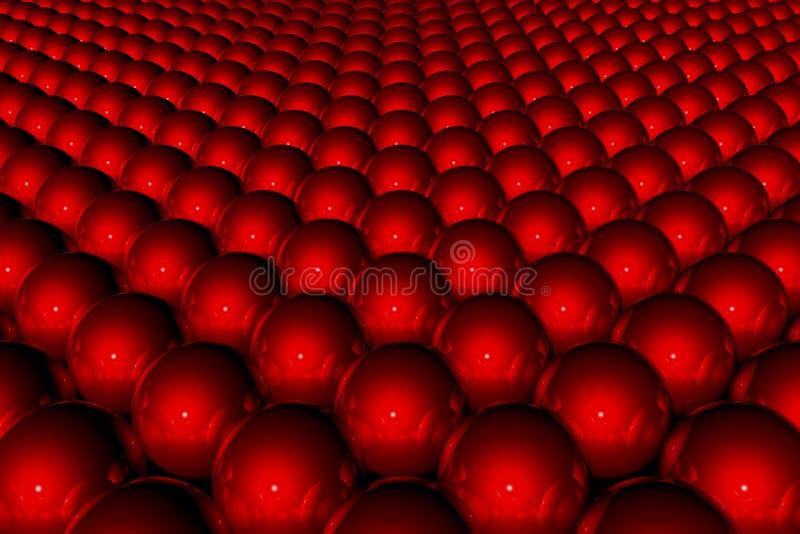 Roter abstrakter Hintergrund 3D stock abbildung