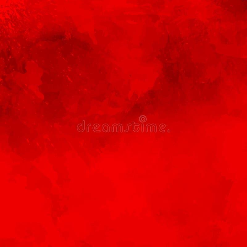 Roter abstrakter Hintergrund mit Rauche stock abbildung