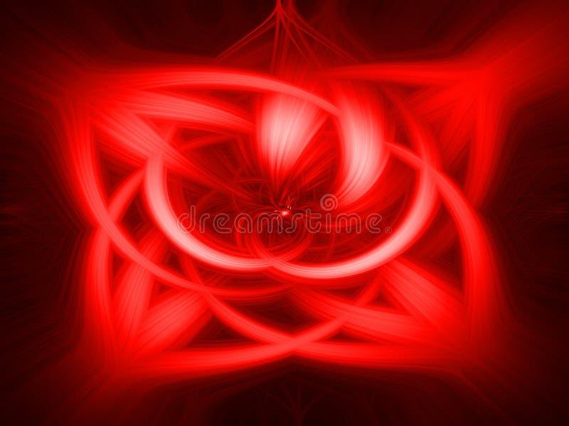 Roter abstrakter Hintergrund - Rotation vektor abbildung