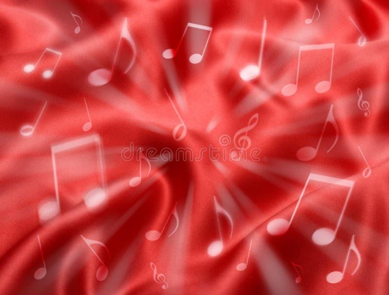 Roter abstrakter Musik-Hintergrund lizenzfreie stockfotografie