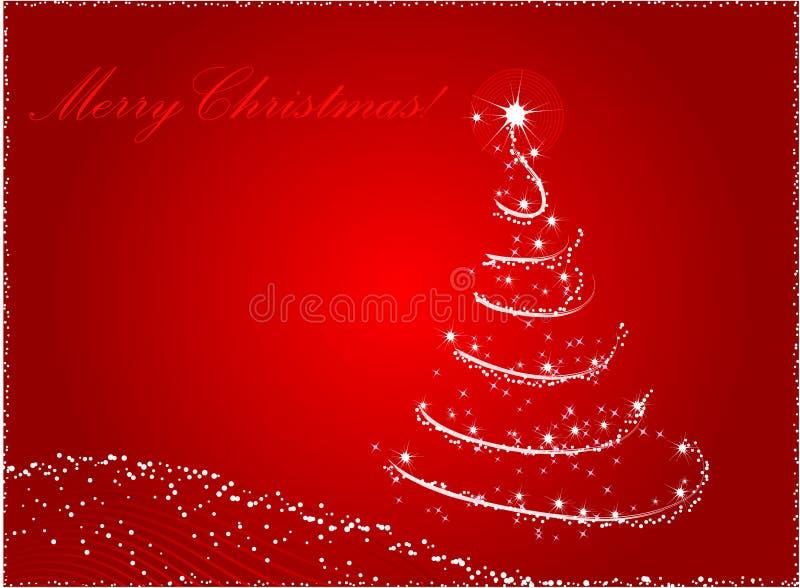 Roter abstrakter Weihnachtsbaumhintergrund lizenzfreie abbildung