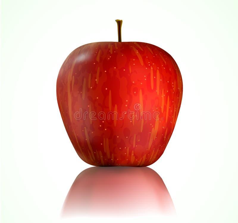 Roter Apfel stock abbildung
