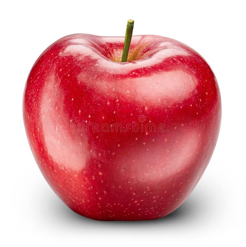 Roter Apfel getrennt auf Weiß lizenzfreie stockfotografie