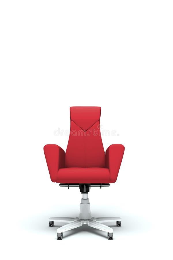 Roter Bürolehnsessel lizenzfreie abbildung