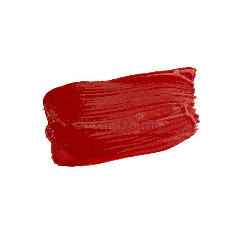 Roter Bürsten-Anschlag lizenzfreies stockbild