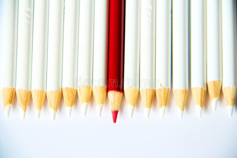 Roter Bleistift lizenzfreie stockbilder