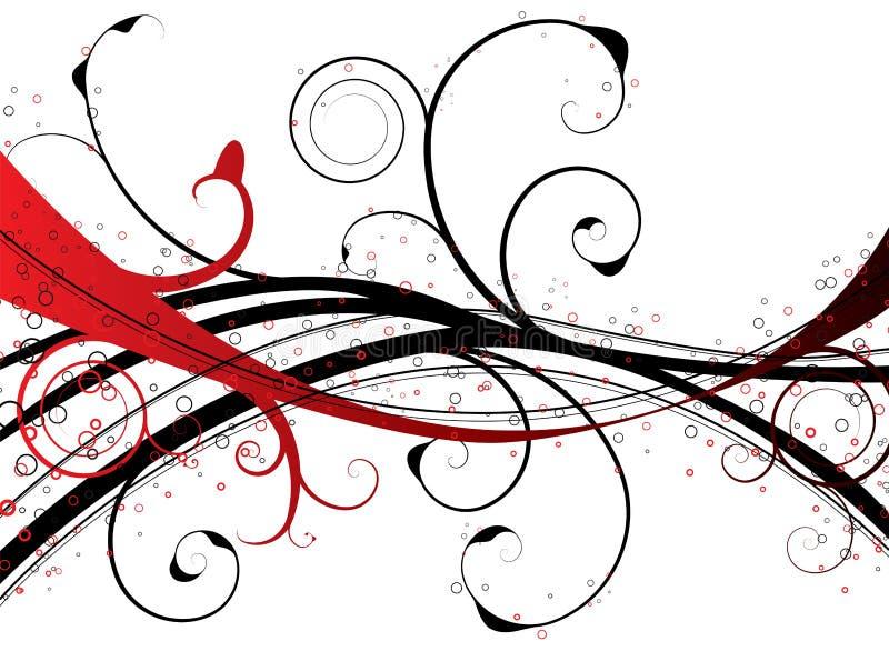 Roter Blumenstrudel lizenzfreie abbildung