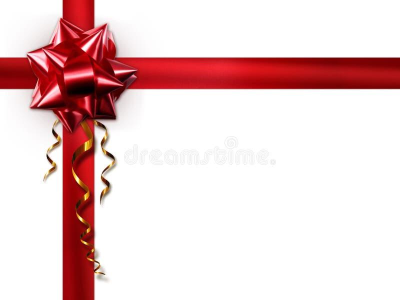 Roter Bogen auf einem weißen Hintergrund stockbild