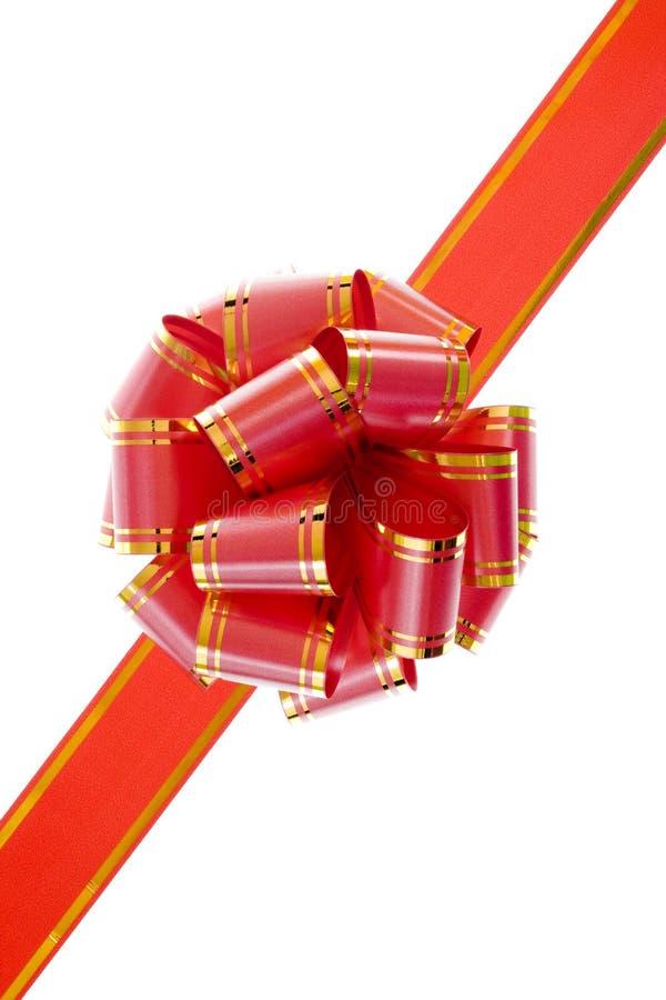 Roter Bogen getrennt auf Weiß stockbilder
